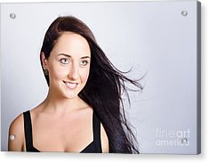 Beauty And Cosmetics Girl With Natural Makeup Acrylic Print