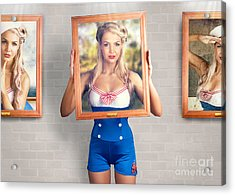 Beauty In The Art Of Picture Perfect Portrait Acrylic Print