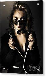 Beauty Woman Posing In Formal Evening Wear Acrylic Print by Jorgo Photography - Wall Art Gallery