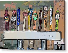 Beer Taps 2 Duval Street Key West Pop Art Style Acrylic Print