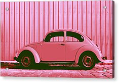 Beetle Pop Pink Acrylic Print