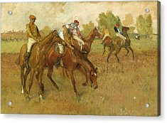 Before The Race Acrylic Print by Edgar Degas