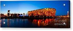 Beijing National Stadium By Night  The Bird's Nest Acrylic Print by Fototrav Print