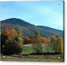 Belknap Mountain Acrylic Print by Mim White