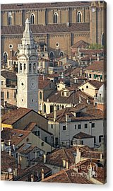 Bell Tower Of Santa Maria Formosa And Red Tiled Roofs Acrylic Print