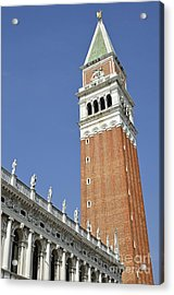 Bell Tower On San Marco Piazza Acrylic Print by Sami Sarkis