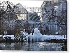 Belle Isle Conservatory Pond 2 Acrylic Print