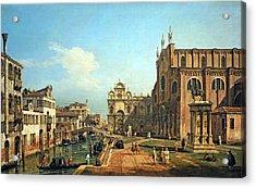 Bellotto's The Campo Di Ss. Giovanni E Paolo In Venice Acrylic Print by Cora Wandel