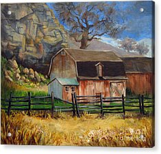 Acrylic Print featuring the painting Bellvue Barn by Carol Hart