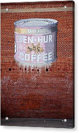 Ben Hur Coffee Acrylic Print by Peter Tellone