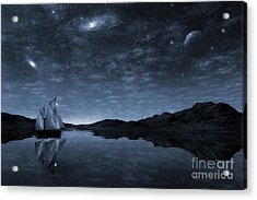 Beneath A Jewelled Sky Acrylic Print by John Edwards