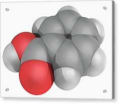 Benzoic Acid Molecule Acrylic Print by Laguna Design/science Photo Library