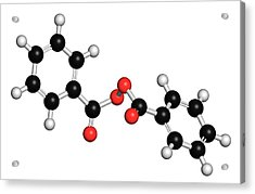 Benzoyl Peroxide Acne Drug Molecule Acrylic Print by Molekuul