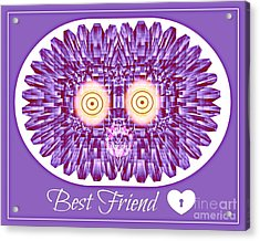 Best Friend Acrylic Print by Meiers Daniel