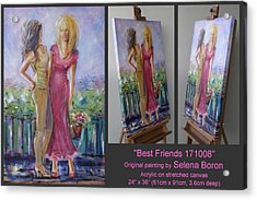 Acrylic Print featuring the painting Best Friends 171008 by Selena Boron