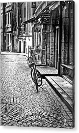 Bicycle And Sparrow 2  Acrylic Print by Elf Evans
