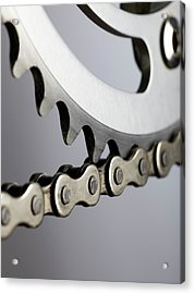 Bicycle Chain And Crank Acrylic Print