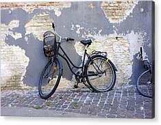 Bicycle Copenhagen Denmark Acrylic Print by John Jacquemain
