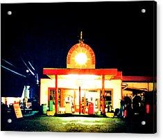 Big Eds Gas Farm Acrylic Print by Luis Ludzska