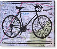 Bike 8 On Map Acrylic Print