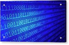 Binary Code Acrylic Print