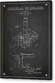 Binocular Microscope Patent Drawing From 1931 Acrylic Print by Aged Pixel