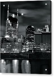 Black And White Nashville Acrylic Print by Frozen in Time Fine Art Photography