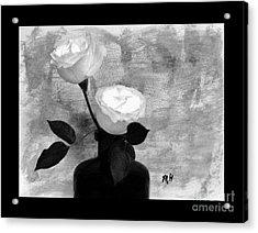Black And White Rose Acrylic Print by Marsha Heiken