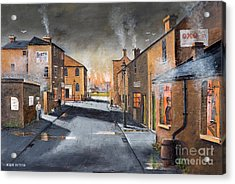 Black Country Village From The Boat Yard Acrylic Print