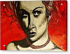 Acrylic Print featuring the painting Black Portrait 20 by Sandro Ramani