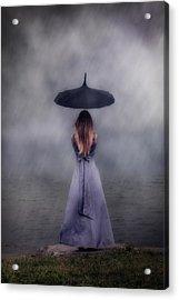 Black Umbrella Acrylic Print