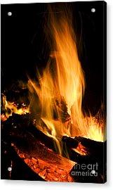Blazing Campfire Acrylic Print