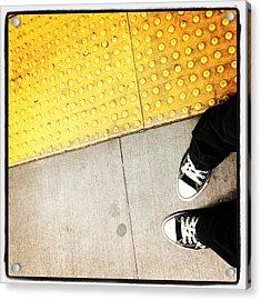 Bleecker Street Subway Acrylic Print by Natasha Marco