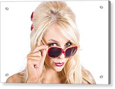 Blond Woman In Sunglasses Acrylic Print