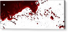 Blood Spatter Series Acrylic Print