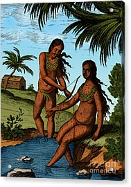 Bloodletting Native Central American Acrylic Print by Science Source