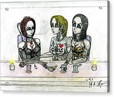 Bloodrayne's Night Out Acrylic Print by Jody Anthony Thompson