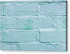 Blue Brick Wall Acrylic Print by Tom Gowanlock