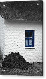 Acrylic Print featuring the photograph Blue Cottage Window by Jane McIlroy