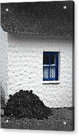 Blue Cottage Window Acrylic Print by Jane McIlroy