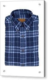 Blue Flannel Shirt Acrylic Print by DonNichols
