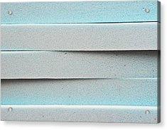 Blue Foam Acrylic Print by Tom Gowanlock