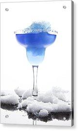 Blue Frozen Iceberg Margarita Acrylic Print by Erin Cadigan