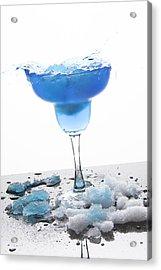 Blue Frozen Iceberg Margarita Splash Acrylic Print by Erin Cadigan