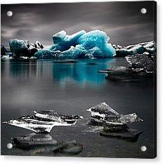 Blue Glacier Ice Iceland Acrylic Print