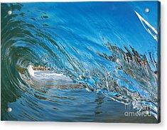 Blue Glass Acrylic Print by Paul Topp