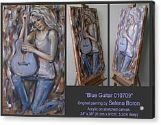 Acrylic Print featuring the painting Blue Guitar 010709 by Selena Boron