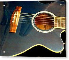 Blue Guitar Acrylic Print