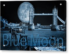 Blue Moon Acrylic Print by Donald Davis