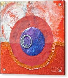 Blue Moon Acrylic Print by Ellen Miffitt